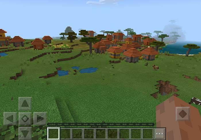 Minecraft ocean village