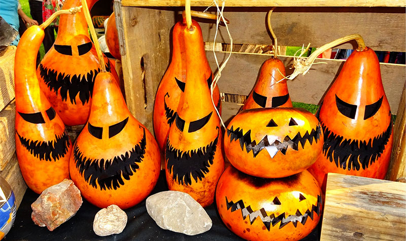 Painting Gourds For Halloween