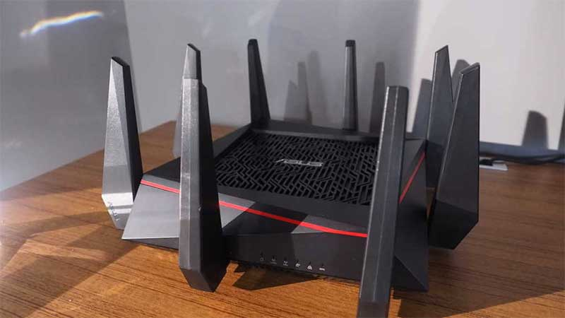 gaming router on table