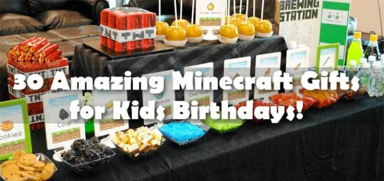 30 Amazing Minecraft Gifts for Kids Birthdays
