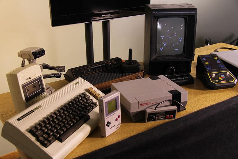 old school gaming consoles
