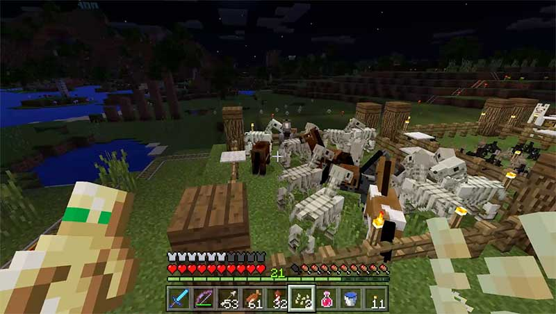 minecraft skeletal horses