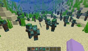 minecraft drowned zombies