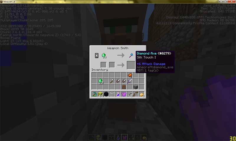 minecraft silk touch enchantment