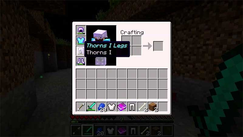 minecraft thorns enchantment