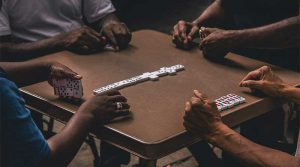 people playing dominoes