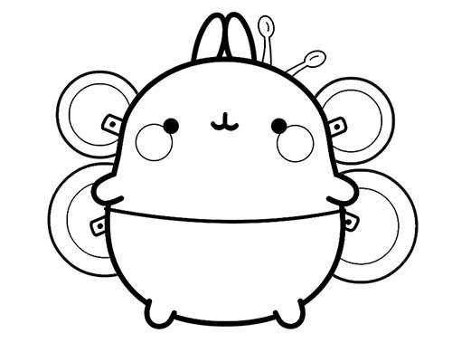 molang as a bee