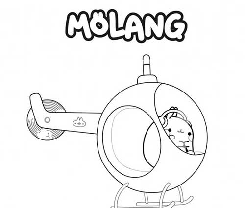 molang in helicopter