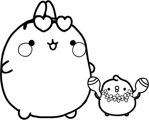 molang and piu piu party time