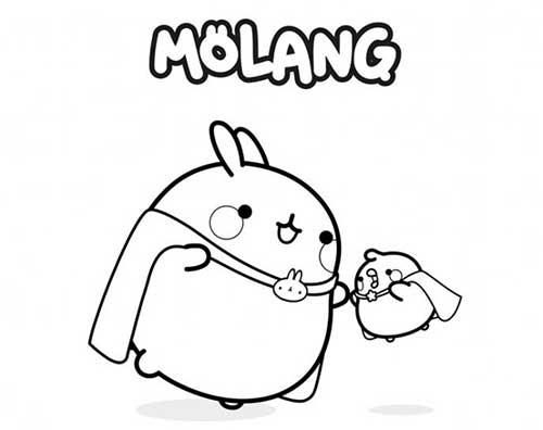 molang and piu piu as superheroes