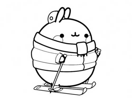 molang on skiis