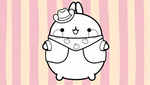 molang dressed as a cowboy