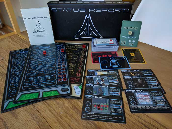 status report board game