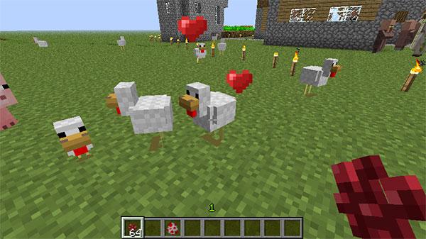 breeding minecraft chickens