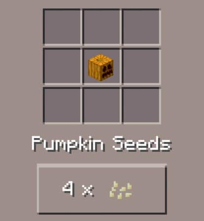 minecraft craft pumpkin
