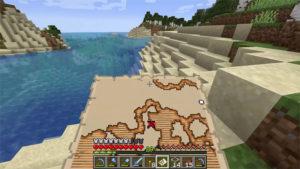 finding treasure minecraft map
