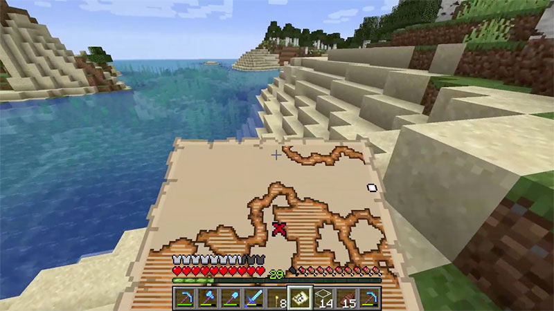 finding treasure minecraft map