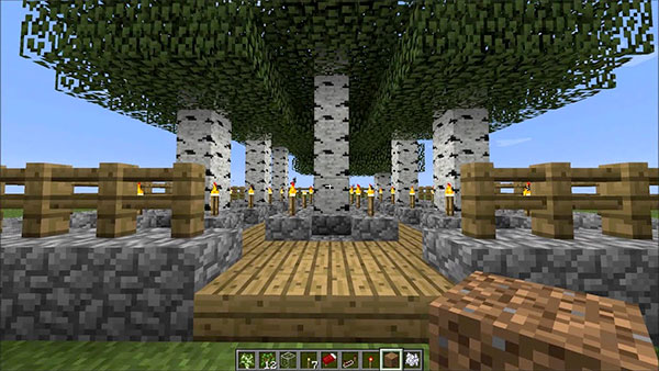 minecraft birch tree farm