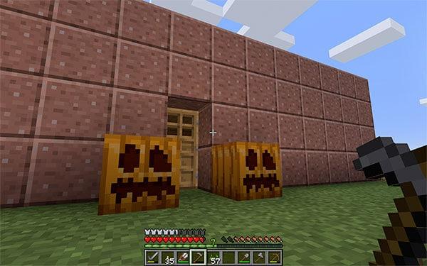 minecraft jack-o-lanterns