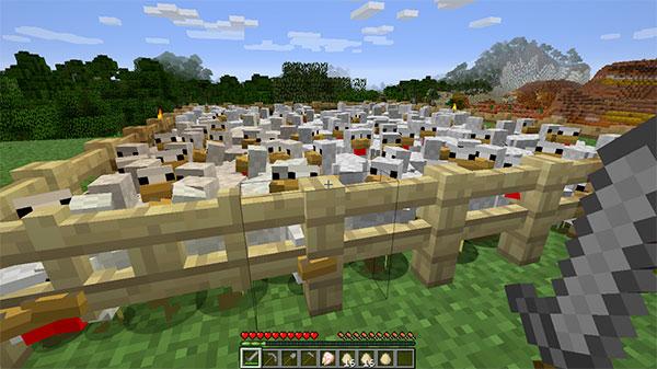 minecraft chicken farm