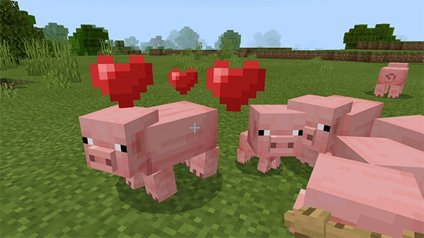 minecraft pig breeding