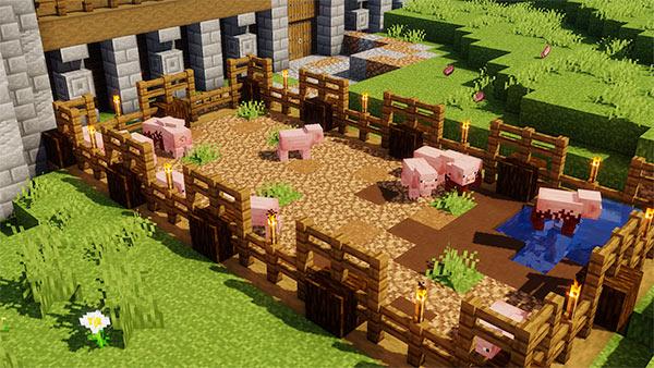 minecraft pig farm