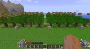 minecraft tree farm