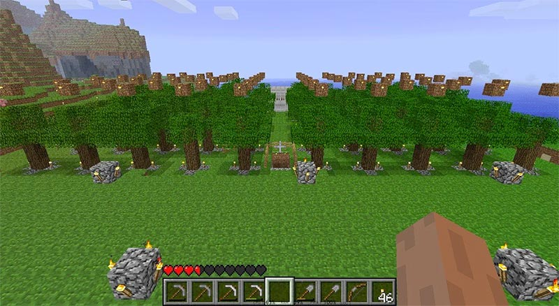 minecraft tree farm