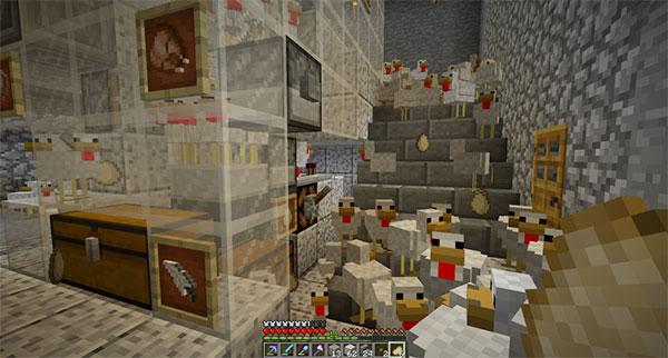 dungeon minecraft chicken farm