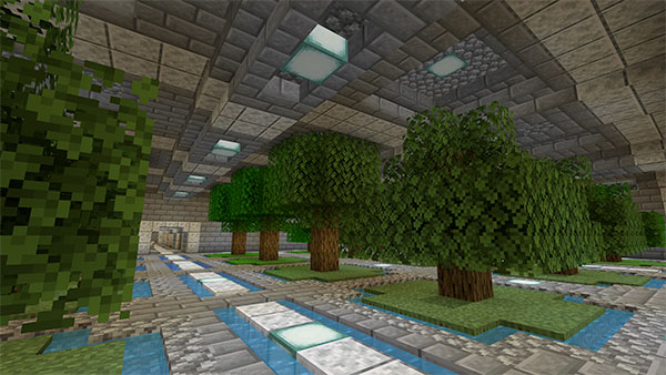 minecraft underground tree farm