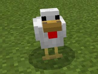 one minecraft chicken