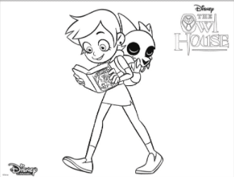 Luz and King coloring page The Owl House