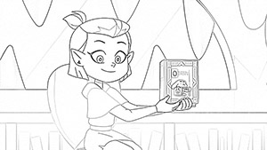 Amity coloring page The Owl House