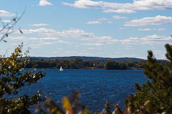 sailboat on lake in Minnesota