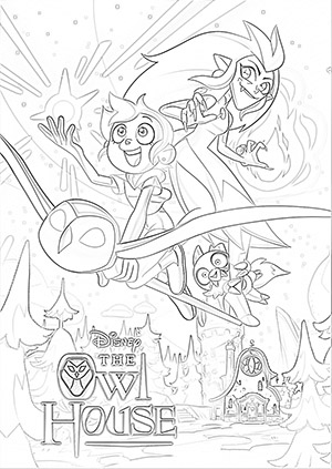The Owl House poster coloring page